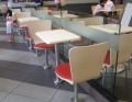 钢木家具快餐桌椅|固定脚快餐桌椅供应商