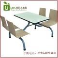 深圳厂家 快餐厅小吃店餐桌椅 连体快餐桌椅订做