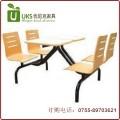 高品质低价格 深圳优质快餐桌椅 专业订做连体快餐桌椅