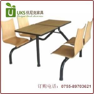 专业订做 质量保证 质量最好的快餐桌椅 深圳优尼克为你打造