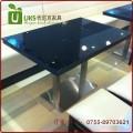 黑色经典大理石餐桌 大理石人造石餐桌 厂家直供 专业定做