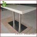 不锈钢桌脚大理石餐桌 大理石餐桌定做 深圳优尼克