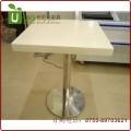 简约素雅白色大理石餐桌 深圳人造石天然石餐桌定做 优尼克家具工厂直供