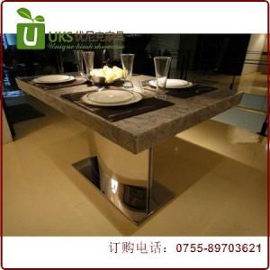 简约经典人造石餐桌定做 深圳人造石餐桌长期供应 工厂直营